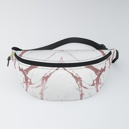 Premium Rose Gold Marble Fanny Pack