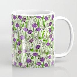 A Field of Chives Coffee Mug