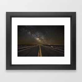 Go Beyond - Road Leads Into Milky Way Galaxy Framed Art Print