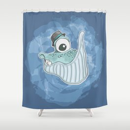 Will the Whale Shower Curtain