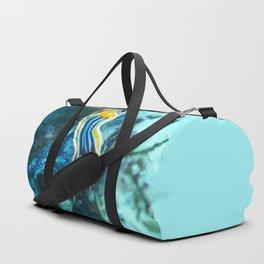 Yellow and blue striped chromodoris nudi Duffle Bag