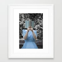 reading Framed Art Prints featuring Reading by Maria Heyens