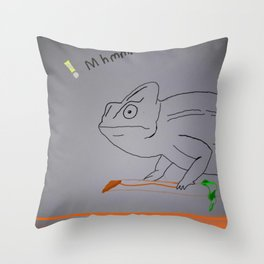 Thoughtful Cameleon Throw Pillow