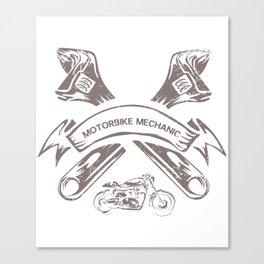 Motorbike Mechanic Gift Canvas Print
