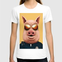pigs T-shirts featuring PIGS by Brandon Juarez