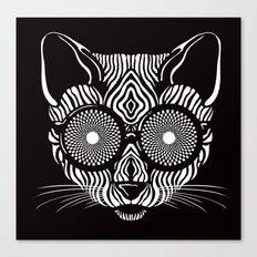 Hypnotic Kitty is hypnotize you  Canvas Print