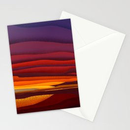 Sunset in French Polynesia Stationery Cards