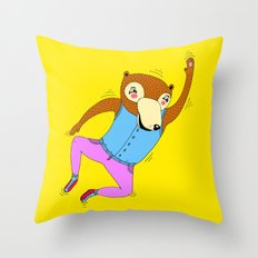 The Swimming Bear Throw Pillow