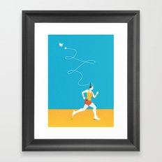 Plug yourself out Framed Art Print