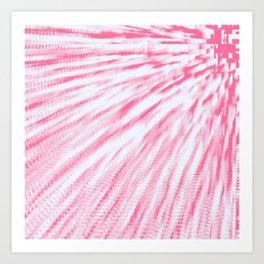 Rose pink Pixel Wind Art Print
