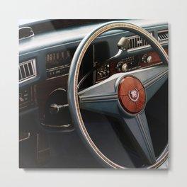 Vintage Car Rally - Interior Cadillac Metal Print
