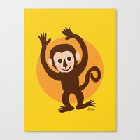 monkey Canvas Prints featuring Monkey by BATKEI