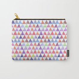 pastel triangles ikat print mini Carry-All Pouch
