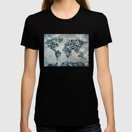 floral world map 2 T-shirt