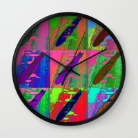led zeppelin Wall Clocks featuring Zeppelin Warhol by Sara PixelPixie