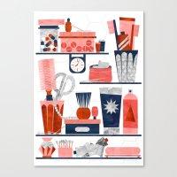 bathroom Canvas Prints featuring Bathroom by Kata