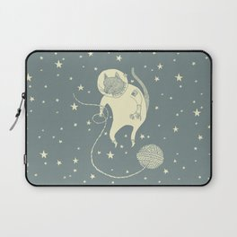 Sleepy Blue Space Cat Proves String Theory Laptop Sleeve