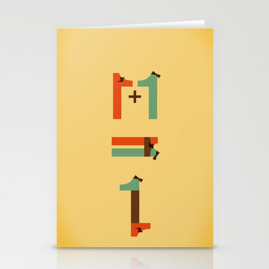 1 plus 1 Stationery Cards