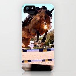 Sunset Showjumper iPhone Case