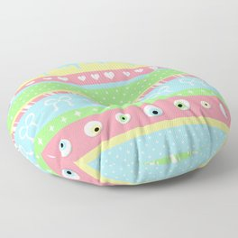 Creepy Cute Stripes Floor Pillow