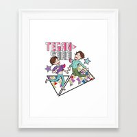 tegan and sara Framed Art Prints featuring Tegan & Sara by nathan wellman