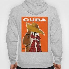 Vintage Travel Ad Cuba Hoody