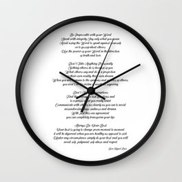 The four Agreements 14 Wall Clock