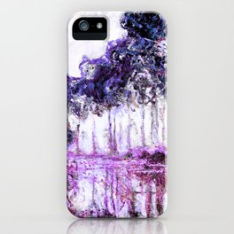 Monet Poplars on the Banks of the River Epte Magenta Violet iPhone Case