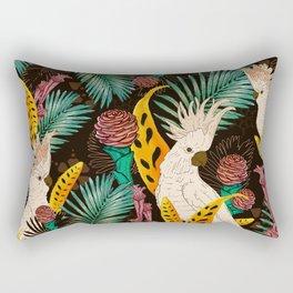Tropical Cockatoos Rectangular Pillow