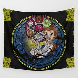 Belle Stained Glass Wall Tapestry