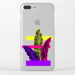 Neon Leaves #society6 #tropical Clear iPhone Case