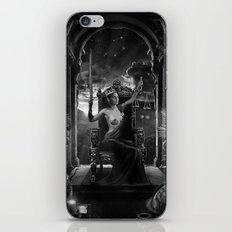 XI. Justice Tarot Card Illustration iPhone & iPod Skin