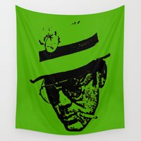 literature Wall Tapestries featuring Outlaws of Literature (Hunter S. Thompson) by Silvio Ledbetter