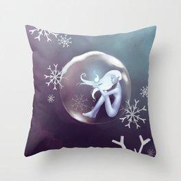 Frozen Lights Throw Pillow