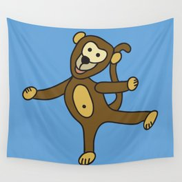 © Little Monkey dancing Wall Tapestry