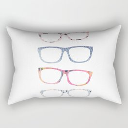 Bespectacled // Watercolor Glasses Print Rectangular Pillow