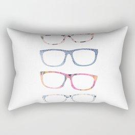 Bespectacled // Watercolor Glasses Print Rectangular Pillow