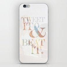 tweet it & beat it. iPhone Skin