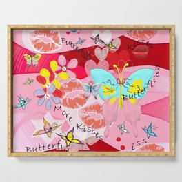 Butterflies and Kisses Serving Tray