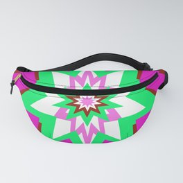 Star Graphic Pink and Green Abstract Fanny Pack