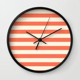 Papaya Stripes  Wall Clock