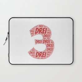 Number three | t shirt german as birthday present Laptop Sleeve