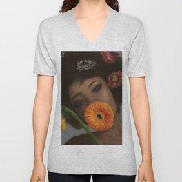Sunflower Woman Unisex V-Neck
