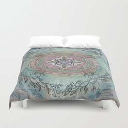the four directions, a medicine wheel Duvet Cover