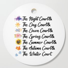 ACOTAR Courts Cutting Board