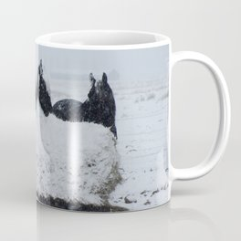 A horses snow day Coffee Mug
