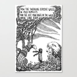 William Blake Illustration Canvas Print