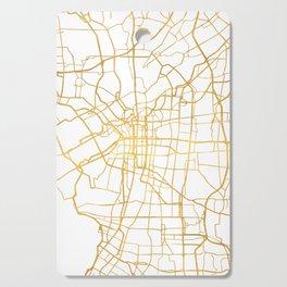 OSAKA JAPAN CITY STREET MAP ART Cutting Board