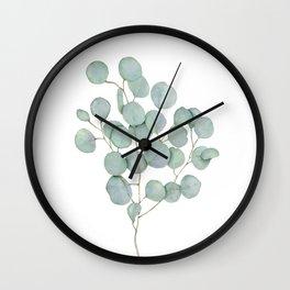 Eucalyptus 1 Watercolor Print by Liz Ligeti Kepler Wall Clock