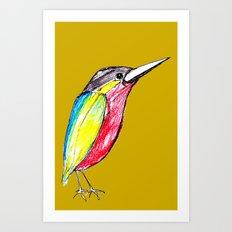 Colour bird Art Print